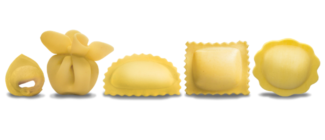 A complete catalogue of fresh filled pasta