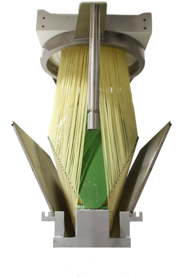 Circular head with long pasta spreader.