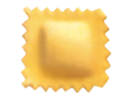 Double sheet square raviolo